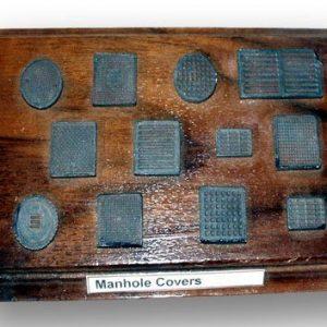 Manhole covers (plaster)